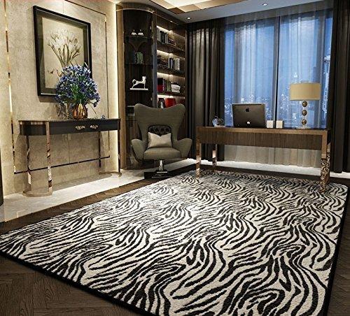 Personalidad creativa salón tendencia de la alfombra de la sala de estar moderna alfombra de la habitación cebra ( Tamaño : 0.7*2m )