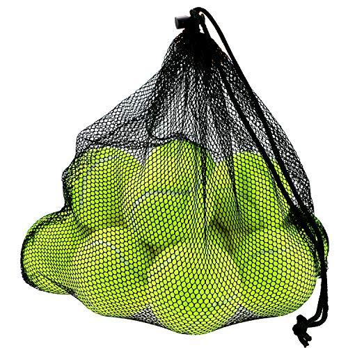 Philonext 12 Pcs Palline da tennis, pacchetti Sport palla di gioco del cane di cricket con sacchetto di trasporto della maglia, divertimento all\'aperto spiaggia di svago istruzione del cane