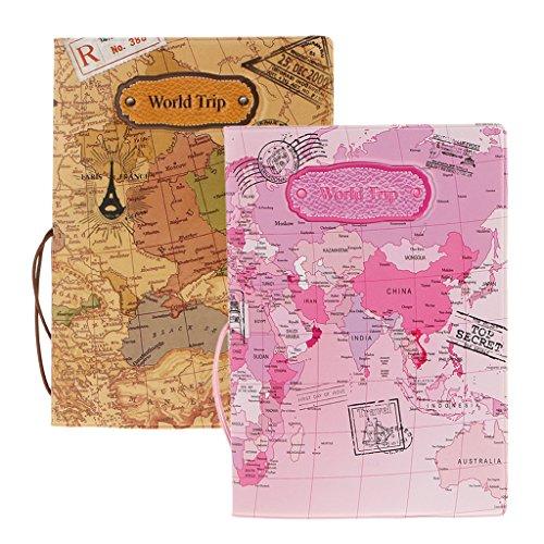 MagiDeal 2X Funda Porta Pasaporte Patrón Mapa World