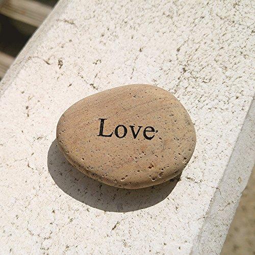 atur Strand Pebble Inspirierende Botschaft Steine, großen Jahrestag oder allgemeine Romantische Geschenk ()
