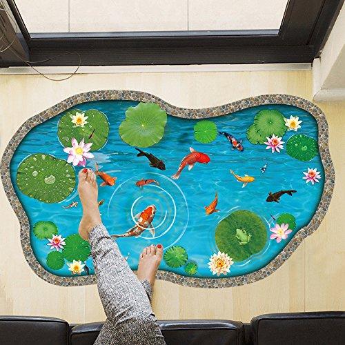 Wandaufkleber Kinder Zimmerteich Kam Fisch 3d Cartoon Wandaufkleber
