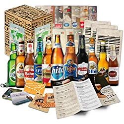 """""""CERVEZAS DEL MUNDO"""" Selección de las 12 cervezas más exclusivas del mundo. Paquete de degustación. Excelente idea de regalo para hombres jóvenes y adultos."""