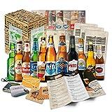 """""""BIERE DER WELT"""" 12 Flaschen ++ Geschenkkarton ++ Bierinformationen ++ Bierdeckel. Biergeschenk für Männer/Geburtstag / Weihnachten etc. Die perfekte Geschenkidee für Männer"""