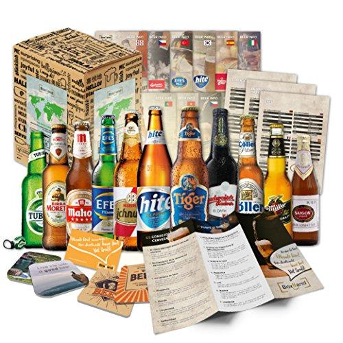 """""""CERVEZAS DEL MUNDO"""" Selección de las 12 cervezas más exclusivas del mundo. Paquete de degustación. Excelente idea de regalo para hombres jóvenes y adultos"""