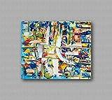 Pinturas al óleo de Arte Moderno Arte de Lienzo de Pared Pintura al óleo sobre lienzo de pared Decoración del hogar ilustraciones abstractas pintadas a mano - GELATO VANIGLIA 50x60cm 19,69x23,62in
