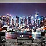 Fotomural 200x140 cm - 3 tres colores a elegir - Papel tejido-no tejido. Fotomurales - Papel pintado - Ciudad New York d-B-0034-a-b