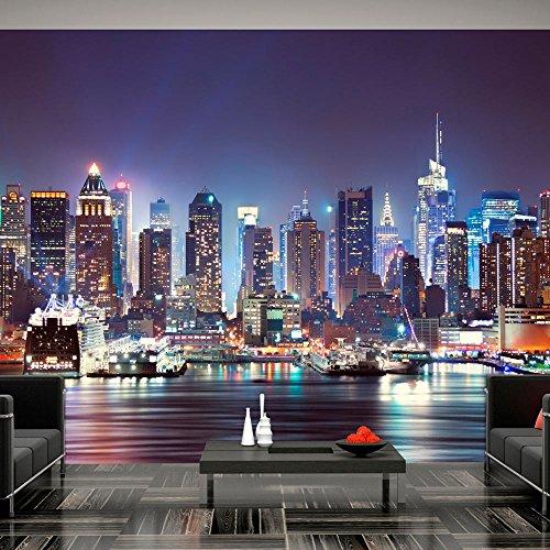 murando – Papier peint intissé 350x256 cm – Trompe l oeil – Tableaux muraux déco XXL – Ville New York d-B-0034-a-b