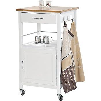 IKEA STENSTORP Servierwagen in weiß; aus massiver Eiche; (45x43x90cm ...