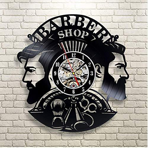 Syhua Barbería Reloj De Pared De Diseño Moderno Barbería Relojes De Vinilo Peluquería Reloj De Pared Decoración De Pared para Barbero