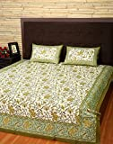 Queen Bed Sheet Floral Cream Double Prin...