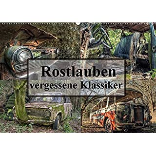 Rostlauben - vergessene Klassiker (Wandkalender 2018 DIN A2 quer): Vergessene Schönheiten - Autos aus einer längst vergangenen Zeit. (Monatskalender, ... [Kalender] [Apr 27, 2017] Buchspies, Carina