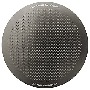 The DISC: Premium Filter for AeroPress Coffee Makers by ALTURA + FREE eBOOK with Recipes, Tips, and More - Stainless Steel, Washable & Reusable. Lifetime 100% Guaranty