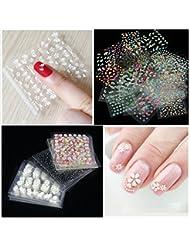 Coscelia 50 Feuilles d'Ongles Sticker Couleurs Mélangées 3D Decal Nail Art Manucure