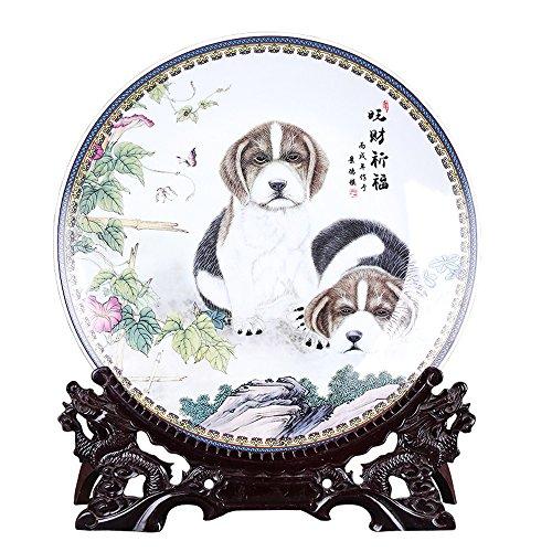 RPMDM Ein Jahr Der Dekoration Hund Keramik Chinesischen Hängenden Platte Chinesischen Hund Weinschrank Projekt Hund Geschenk Kunsthandwerk -