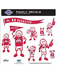 NCAA Ohio State Buckeyes Family Character Decals, Large