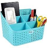 Absales Plastic Basket Storage Organizer, 19x14x13.8cm (Multicolour)