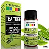 #2: Organix Mantra Tea Tree Essential Oil For Skin, Hair, Face, Acne Care, 15Ml Pure, Natural And Undiluted Therapeutic Grade Essential Oil