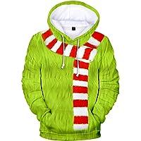 HAOSHENG Homme Femmes Sweats à Capuche Noël 3D Print Pull Casual Manche Longue Fantaisie Mode Ample Hoodie