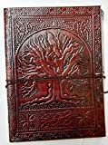 leather journals By ANUENT Fair Trade Tree Of Life Design Leather Journal Diary Notebook for Men Women