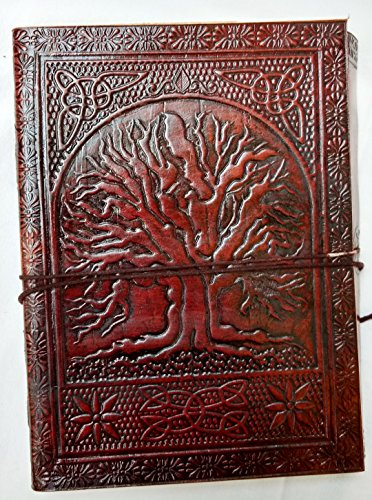 Handgefertigte Leder (Handgefertigt Leder Notizbuch nachfüllbar Tagebuch für Männer Frauen oder für Büro)