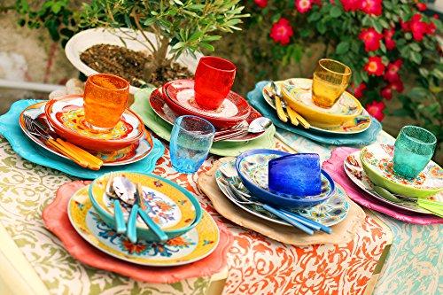comprare on line Villa d'Este Home Tivoli Servizio Tavola Calamoresca 18 piatti, Porcellana/Gres prezzo