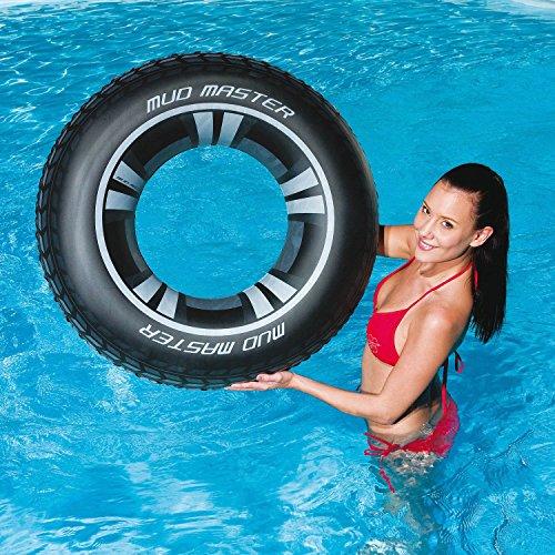 Preisvergleich Produktbild Schwimmreifen Schwimmring Autoreifen Schwimmhilfe Reifen Ring Schwimmen Bestway Ø 91cm Pool Badereifen Schwimmen Mud Master Swim Ring