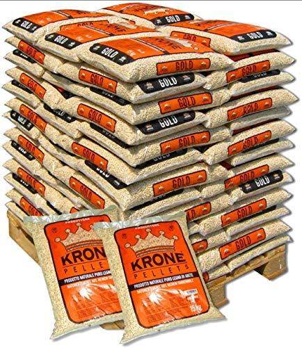 Pellets Krone 15 kg Prodotto naturale, pellet in Puro legno di Abete