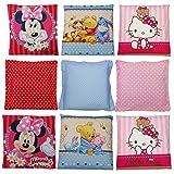 Kinder Baby Dekokissen Kuschelkissen Kissen Winnie The Pooh Minnie Mouse Hello Kitty 40 x 40 cm (Nr.9)