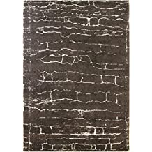 DolceMora Sehrazat Zara 9001 - Alfombra acrílico, 170 x 120, Color café