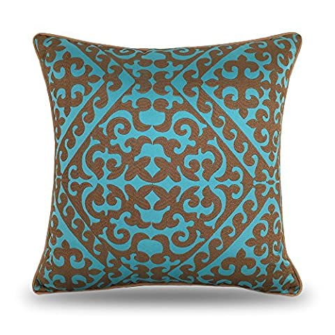 Coolsummer Embroidered Geometry Cushion Covers European style Decorative Throw Pillow Case Cover Cushions For Sofa Car Chair
