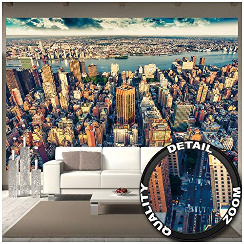 GREAT ART Fototapete - New York City Skyline - Wandbild Dekoration Sonnenuntergang Manhattan Amerika USA Deko Big Apple NYC Foto-Tapete Wandtapete Fotoposter Wanddeko (336 x 238 cm)