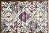 8 modelos 4 medidas de alfombras de bambú anti-deslizante para salón, baño, cocina y habitación / estera multiusos (150 x 200 cm, Estamp.6)