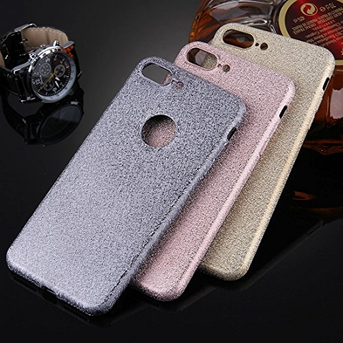Für iPhone 7 Plus Frosted Glitter Powder TPU Schutzhülle by diebelleu ( Color : Grey ) Rose gold