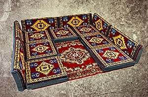 Nesbelle 13 Teilige Set Sark Kösesi Orientalische Sitzecke, Sitzkissen Set mit oder ohne Teppich (13-tlg Set)