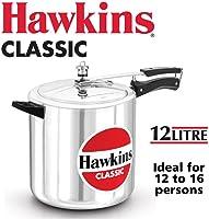 Hawkins Pressure Cooker, Aluminum, 12L, CL 12 (FBA_CL12 Silver)