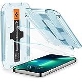Spigen Glas.tR EZ Fit Screenprotector compatibel met iPhone 13, iPhone 13 Pro, 2 Stuks, met Sjabloon voor Installatie, Krista