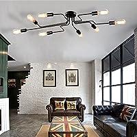 vintage deckenleuchte frideko diy industrie kreative deckenlampe mit 8 flammige fr wohnzimmer esszimmer bar cafeteria - Hangeleuchten Fur Wohnzimmer
