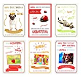 Set 6 humorvolle Geburtstagskarten mit lustigen Sprüchen. Glückwunschkarten zum Geburtstag mit Umschlag. Grusskarte Geburtstagskarte Happy Birthday Mann Frau (Doppelkarten / Klappkarten mit Briefumschlag)