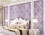 Yosot 3D-Vlies Tapete Rautenförmige Gitter Schlafzimmer Wohnzimmer Tv Hintergrund Violett