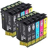 AA+inks T129XL Ersatz für Epson T1295 Druckerpatronen T1291 T1292 T1293 T1294 Kompatibel für Epson Stylus SX435W SX235W SX420W SX230 SX425W SX440W SX445W Epson Stylus Office BX535wd