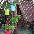 3er Set Hängetöpfe Zink Balkon Blumentopf hängend Balkontopf Pflanztopf zum hängen aus Metall in verschiedenen Sommerfarben von K7plus auf Du und dein Garten
