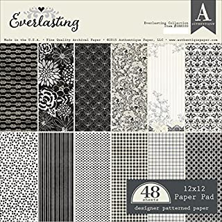 Authentique Double-Sided Paper Pad 12-inch x 12-inch 24 kg-Everlasting