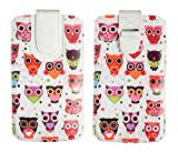 Emartbuy Owls Premium PU Leather Slide in Pouch Case Cover