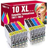 10 Kompatible Patronen T0611-T0614 für Epson Stylus D68 D68PE D88 D88PE D88Plus DX3800 DX3850 DX3850Plus DX4200 DX4250 DX4800 DX4850 DX4850Plus ms-point®