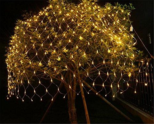 W-ONLY YOU-J Christmas Net Licht 3 Mt * 2 Mt 320 LED Fee Blinklicht String Outdoor Hof Wasserdichte Bühne Hause Schlafzimmer Vorhänge Dekoration (8 Modi), Warmweiß