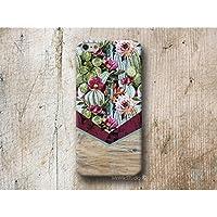 Kaktus Chevron Holz Print Hülle Handyhülle für Samsung Galaxy S8 Plus S7 S6 Edge S5 S4 mini A3 A5 J5 2016 2017 Note 4 5 Core Grand Prime