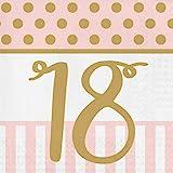 Pink Chic Servietten zum 18. Geburtstag
