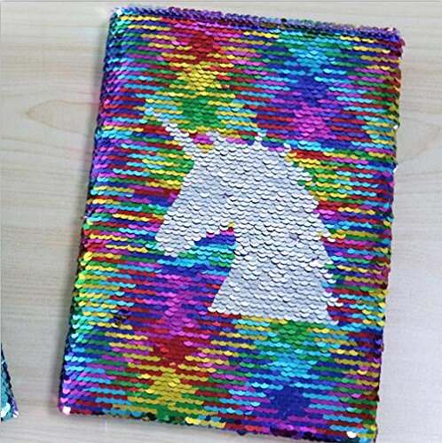Exquisite double-sided sequins unicorn or butterfly diary hardcover high quality writing supplies student stationery