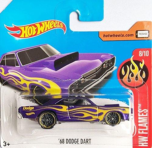 Preisvergleich Produktbild HOT WHEELS® Dodge Dart - Oldtimer Baujahr 1968 - 1:64 - lila, geflammt