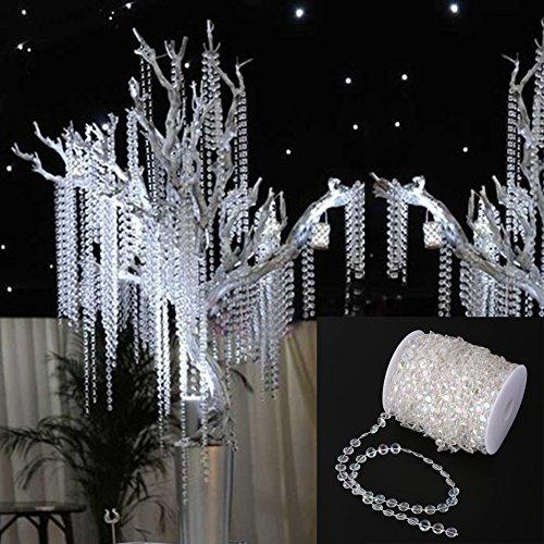 lande Diamant Acryl Kristall Perlen Vorhang Hochzeit DIY Party Deko (30M) (Diy Perlen-tür-vorhänge)
